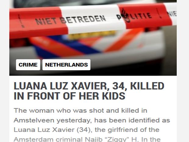 Assassinato de tocantinense foi noticiado por jornal holandês NL Times (Foto: Reprodução)