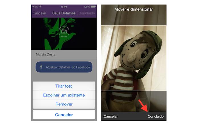 Alterando a foto de perfil do Viber (Foto: Reprodução/Marvin Costa)