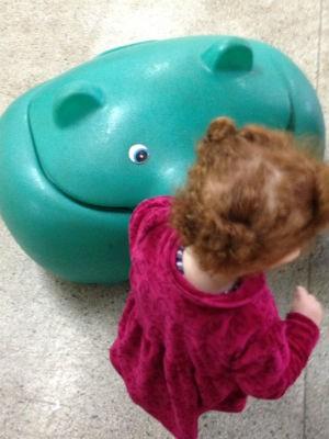 Menina encontrou o rato morto dentro do baú de brinquedos da creche (Foto: Natália de Oliveira/G1)