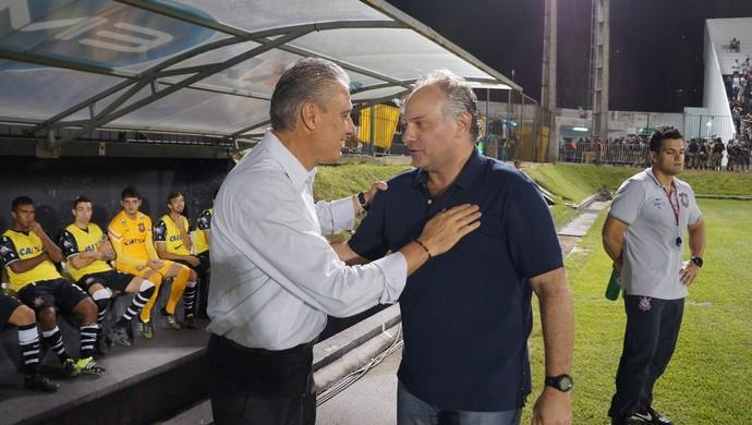 ABC x Corinthians amistoso Tite e Toninho Cecílio (Foto: Augusto Gomes/GloboEsporte.com)