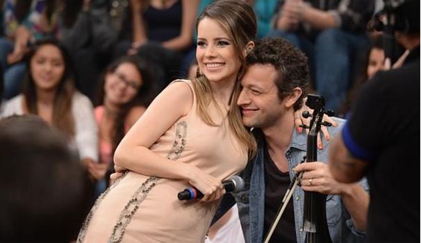 Sandy e o marido Lucas Lima antes do nascimento de Theo (Foto: Zé Paulo Cardeal/ TV Globo)