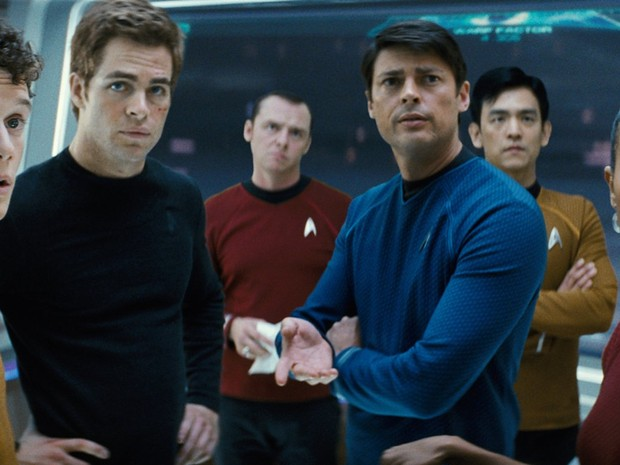 A nova versão da tripulação da Enterprise foi apresentada em 'Star trek' (Foto: Divulgação)