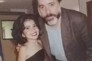 Andressa Nunes e Tony Ramos (Foto: Arquivo pessoal)