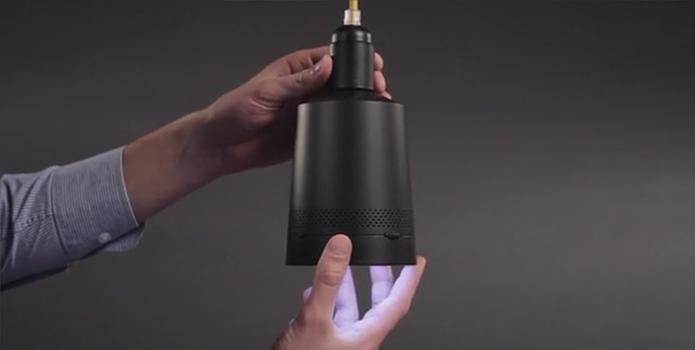 Beam pode parecer uma luminária mas tem sistema inteligente (Foto: Divulgação/Kickstarter)
