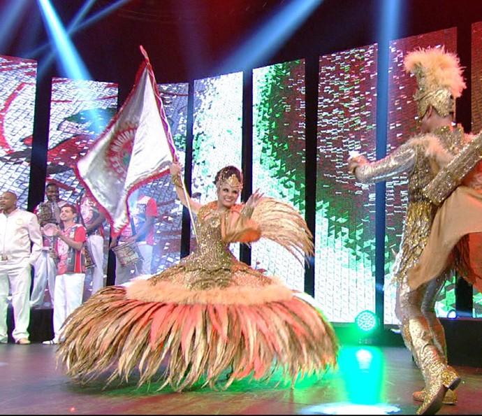 Mocidade Alegre na gravação da vinheta de Carnaval 2016 (Foto: Divulgação TV Globo)
