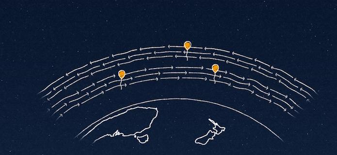 Usando balões na estratosfera, o projeto cria uma grande rede de comunicação (Foto: Divulgação/Google)
