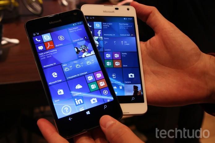 Lumia 650 tem Windows 10 Mobile e design feito de metal e policarbonato (Foto: Fabrício Vitorino/TechTudo) (Foto: Lumia 650 tem Windows 10 Mobile e design feito de metal e policarbonato (Foto: Fabrício Vitorino/TechTudo))