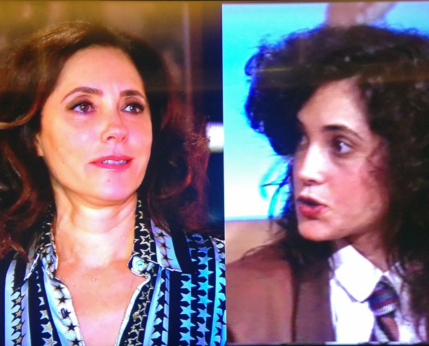 A atriz se emocionou com suas histórias (Foto: Estrelas/TV Globo)