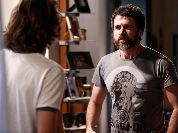 Olha a cara do Mestre Gael de quem vai curtir muito essa ideia! SQN (Foto: Inácio Morais / Gshow)