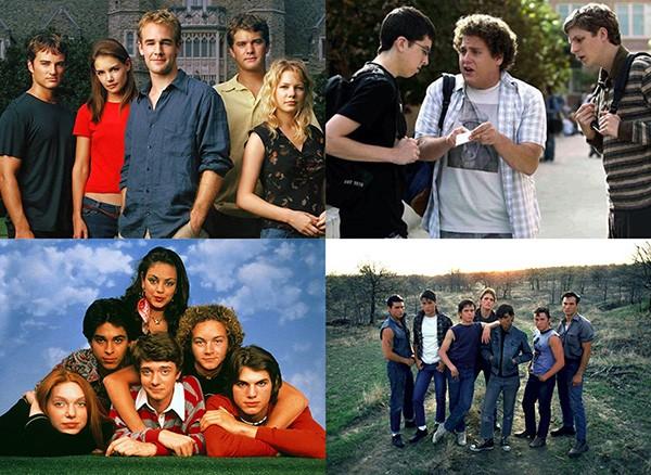 'Dawson's Creek' (1998–2003), 'That '70s Show' (1998–2006), 'Superbad: É Hoje' (2007), 'Vidas Sem Rumo' (1983) (Foto: Divulgação)