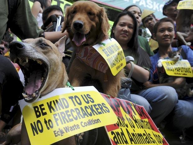 Manifestação foi em Manila, nas Filipinas (Foto: AFP/Noel Celis)