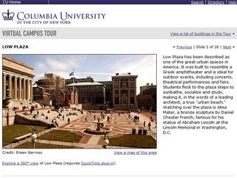 Reprodução de site da Universidade de Columbia (Foto: Columbia University/Reprodução)