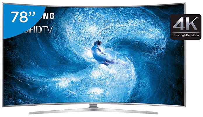 Telas enormes de resolução 4K só mesmo em Smart TVs (Foto: Divulgação/Samsung) (Foto: Telas enormes de resolução 4K só mesmo em Smart TVs (Foto: Divulgação/Samsung))