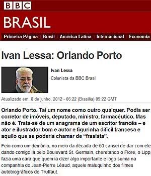 coluna lessa bbc (Foto: BBC Brasil)