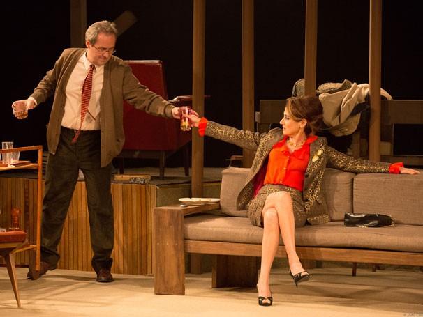 Daniel Dantas e Zezé Polessa em cena de 'Virginia Woolf': premiados  (Foto: João Caldas)
