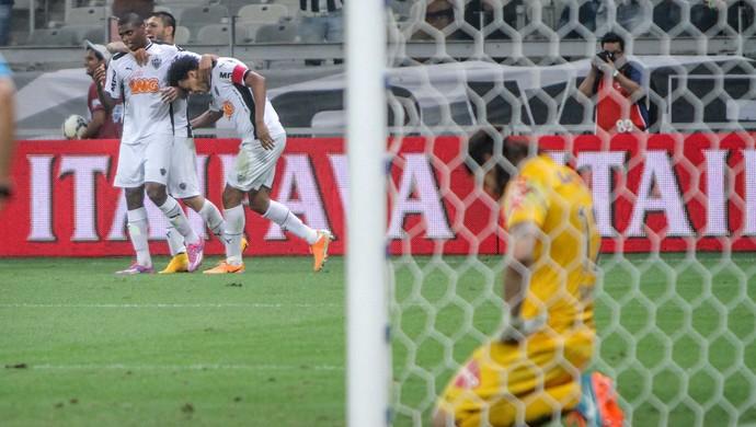 Jogadores do Atlético-MG comemoram gol contra o Corinthians pela Copa do Brasil (Foto: Bruno Cantini/Flickr CAM)