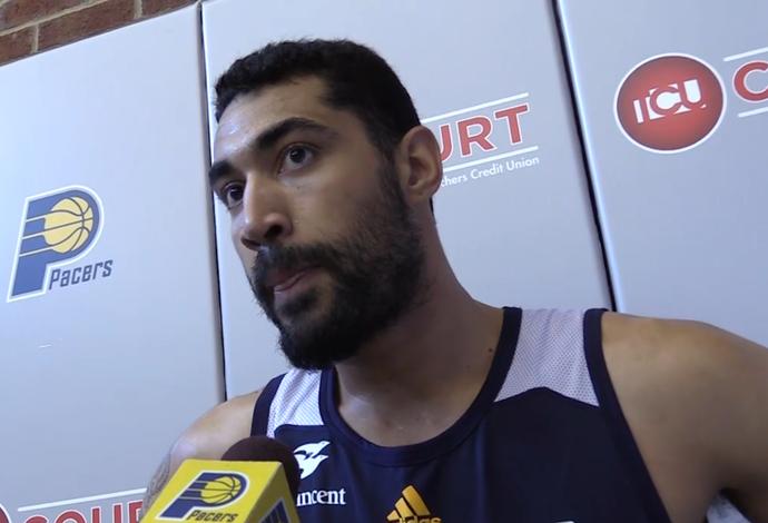 Augusto Lima fala sobre sua chance no Indiana Pacers (Foto: Reprodução')