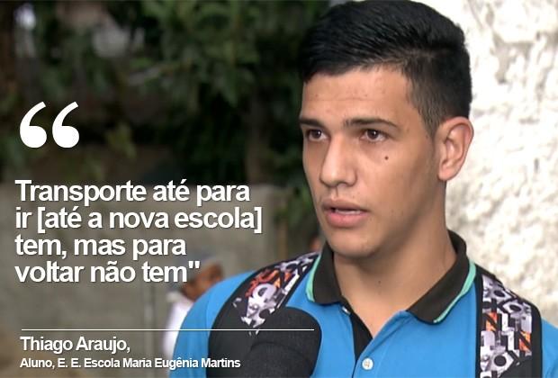 Estudante escola estadual Escola Maria Eugênia Martins (Foto: TV Globo/Reprodução)