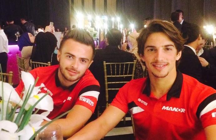 Will Stevens e Roberto Merhi, dupla da Manor - GP da Malásia (Foto: Divulgação)