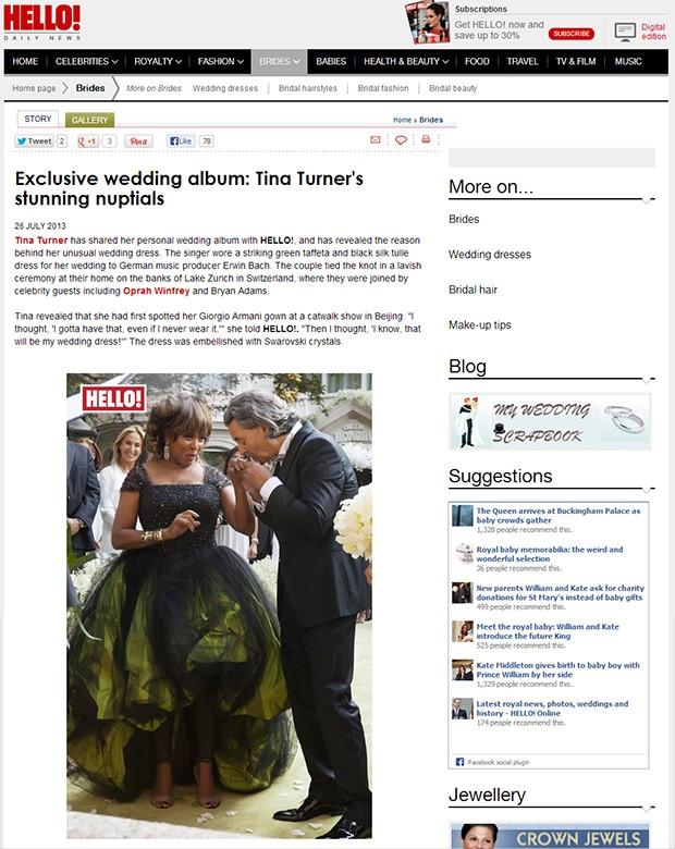Tina Turner (Foto: Hello/Reprodução)