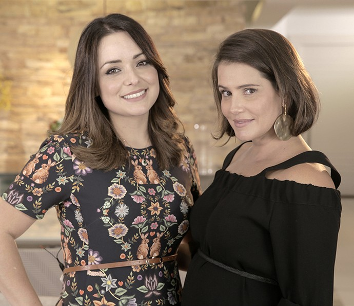 Flavia Calina e Deborah Secco bateram um papo sobre maternidade (Foto: Fábio Rocha / Gshow)