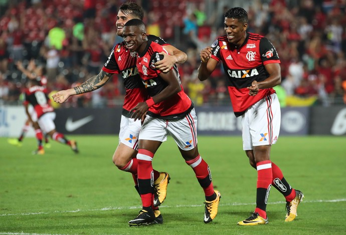 Vinicius Junior Flamengo x Palestino (Foto: Gilvan de Souza/Flamengo)