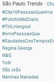 Trending Topics em São Paulo às 17h14 (Foto: Reprodução/Twitter.com)