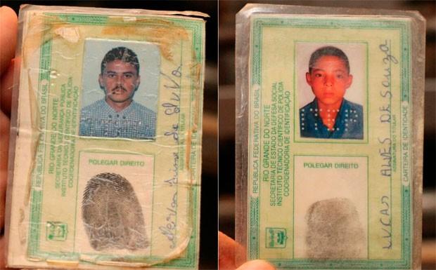 Alcivan Lima da Silva, de 32 anos, natural do próprio município, e Lucas Alves de Souza, de 20 anos, (Foto: Marcelino Neto)