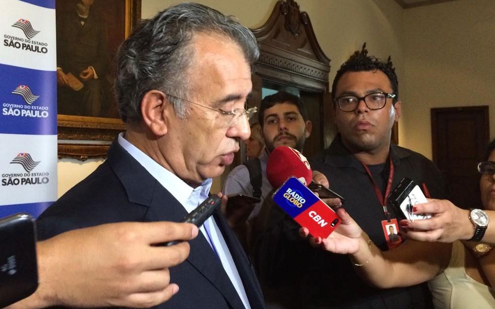 Diretor-presidente da EMTU Joaquim Lopes concede entrevista coletiva