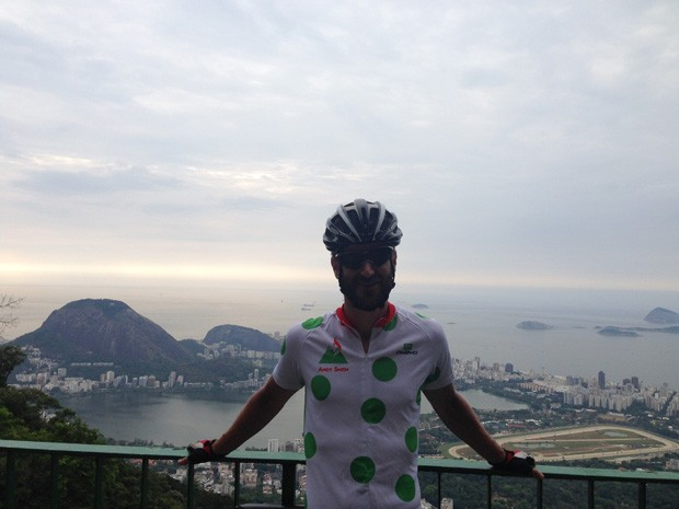 Smith durante sua estadia no Rio de Janeiro (Foto: Andy Smith/Arquivo Pessoal)