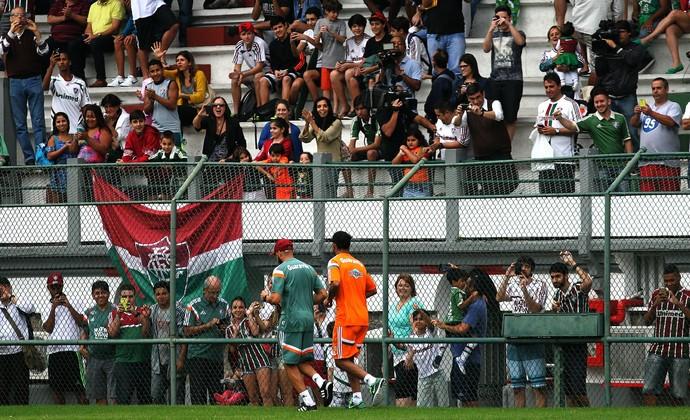 Ronaldinho laranjeiras torcida (Foto: Nelson Perez/Fluminense FC)