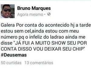 Bruno Marques contou a história nas redes sociais (Foto: Reprodução)