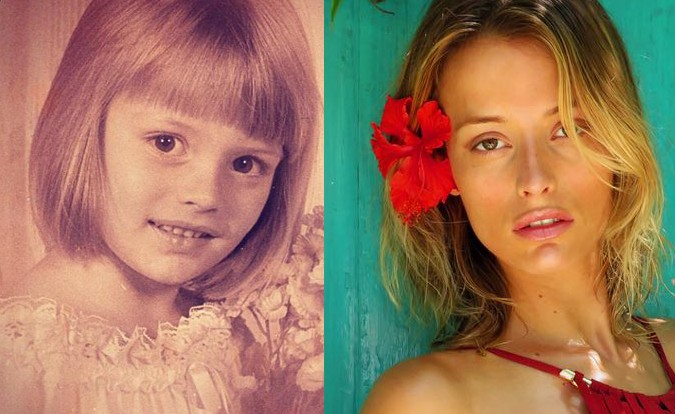 O antes e depois da modelo Flavia Lucini também é bonito de se ver (Foto: Divulgação)