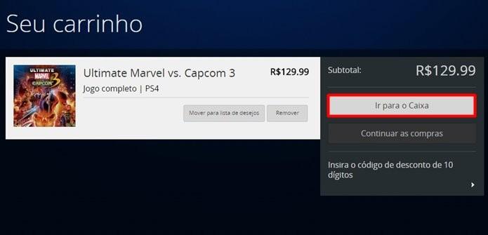 Ultimate Marvel Vs. Capcom 3 custa R$ 130 na PSN brasileira (Foto: Reprodução/Felipe Demartini)