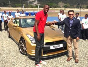 Bolt carro dourado atletismo (Foto: Reprodução / Facebook Oficial)