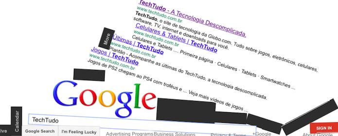 Você pode realizar pesquisas no Google Gravity (Foto: Reprodução/Helito Bijora)