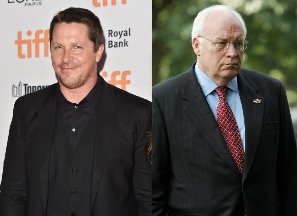 O ator Christian Bale e o ex-vice-presidente dos EUA, Dick Cheney (Foto: Getty Images)