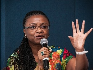 Nilma Lino Gomes fala durante audiência pública na Universidade de Brasília, em julho de 2013 (Foto:  Emília Silberstein/UnB Agência)