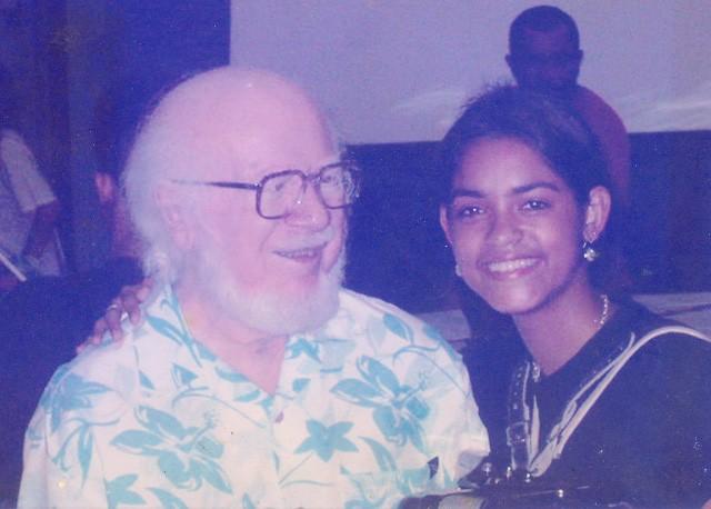 Lucy Alves e Sivuca (Foto: Arquivo pessoal de Lucy)
