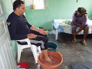 Padre é prefeito de Iati (PE) e faz peregrinação até Juazeiro do Norte (CE) (Foto: José Inaldo/ Arquivo Pessoal)