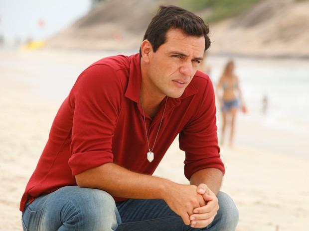 Lombardi grava cenas de emoção de Théo (Foto: Salve Jorge/TV Globo)