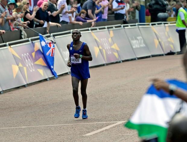 Tsepo Ramonene maratona Olimpíadas 2012 (Foto: AP)