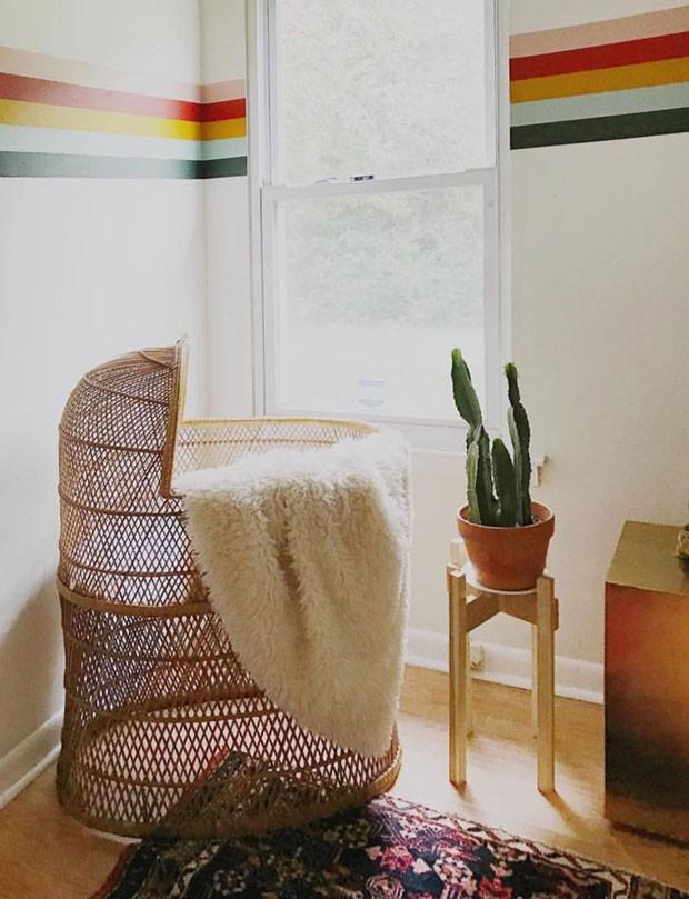 Décor do dia: quarto de bebê colorido e geométrico (Foto: reprodução)
