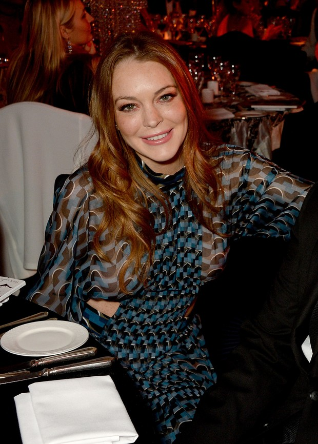 Lindsay Lohan em evento em Londres, na Inglaterra (Foto: David M. Benett/ Getty Images)