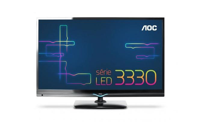 TV AOC LED LE32D3330 tem Receptor Digital Integrado (Foto: Divulgação/AOC)