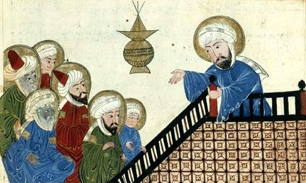 O profeta Mamoé em ilustração de um manuscrito otomano do século XVII (Foto: Reprodução/ Biblioteca Nacional Francesa)