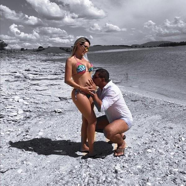 Leticia Santiago e Miguel Correa (Foto: Reprodução Instagram)