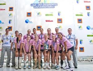 Equipe de vôlei da UNOXHAPECÓ-SC, campeã da LDU 2012 estudantil (Foto: Dovulgação/CBDU)