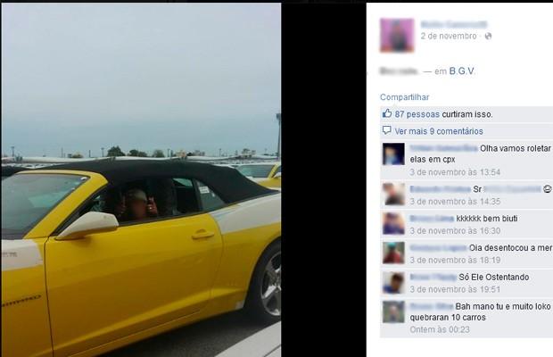 Adolescente tirou foto na primeira vez que grupo entrou em pátio (Foto: Reprodução/Facebook)