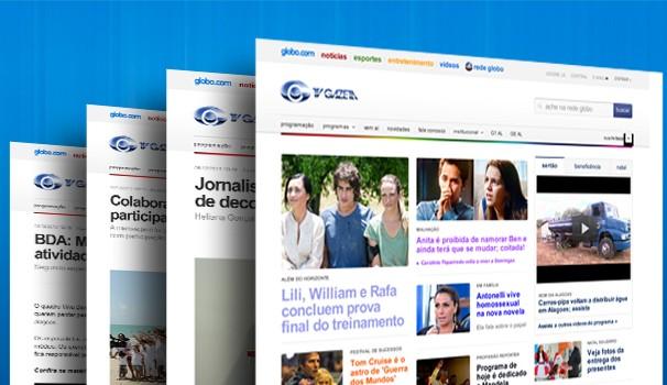 Home da Rede Globo / TV Gazeta  (Foto: Divulgação/ Marketing TV Gazeta )